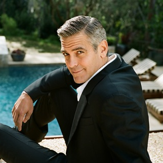 George Clooney makes grey hair look hot.