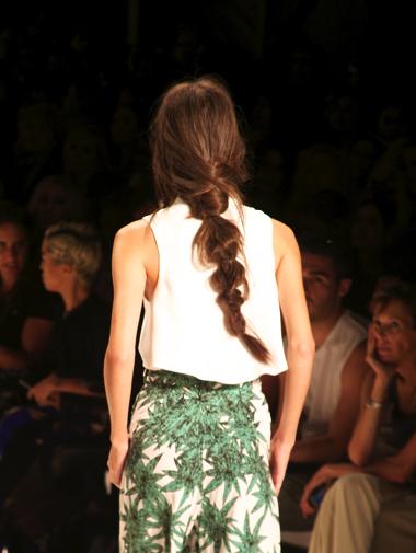 Mara Hoffman's runway braids. Photo by 52 Thursdays.