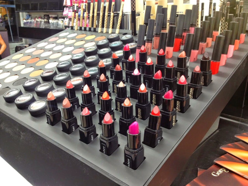 A selection of lipsticks and eyeshadows available at Kenig + Alcone.