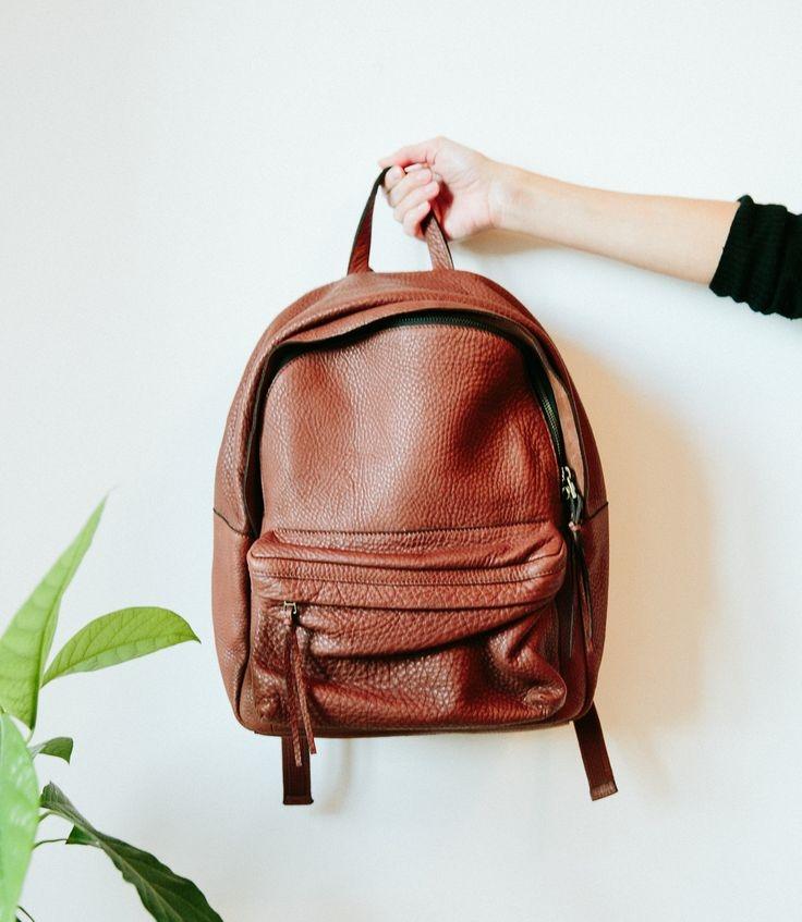 4. Madewell Lorimer Leather Backpack, $228