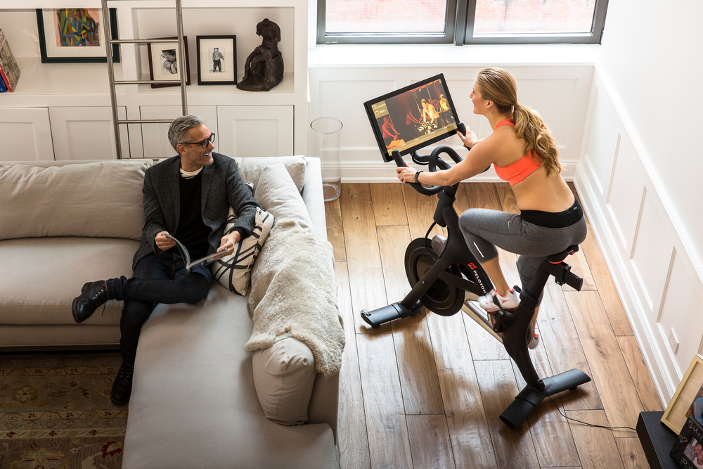 The Peloton bike, which directlystreams live and on-demand cycling classes, is another of Villency's creations.