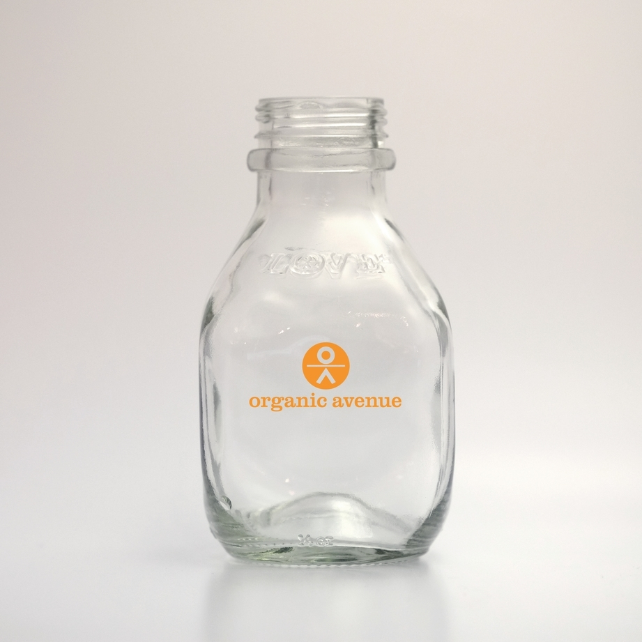 Villency Design Group redesigned and manufactured the signature glass juice bottle of Organic Avenue.