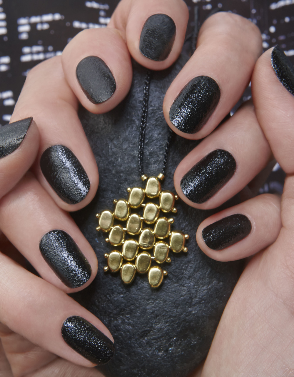 The black and textured Chamonix nail polish from Jin Soon's 'Tout Ensemble' collection.