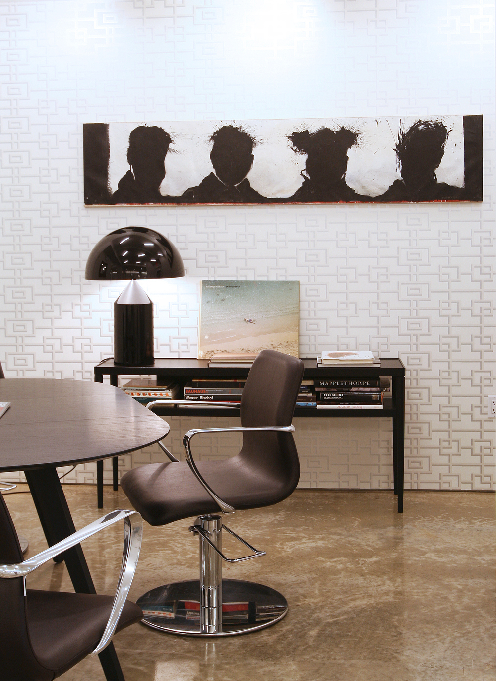 Takamichi Hair islocated at 263 Bowery in New York City andis filled with art.