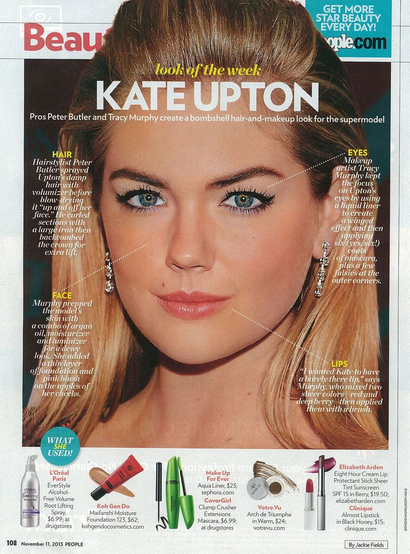 Tracy Murphy explains how you can recreate Kate Upton'smakeupin People magazine.