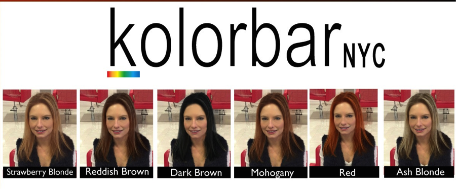 The selection of potential color options.