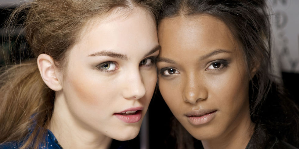 Highlighted skin can also be intensified for the evening with contoured cheeks. Photo courtesy of Harper's Bazaar.