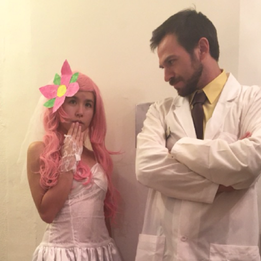 "Dr Krieger and Japanese anime bride from ""Archer"""