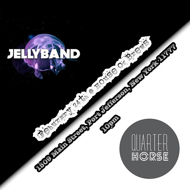 Looking forward to our next show with Jelly Band at House of Brews in Port Jefferson.  This is our first time playing there and we can't wait to do so!  They've done some nice things to the place. Come check it out!  #quarterhorseband #quarterhorsemusic #band #music #nymusic #originalmusic #supportlocalmusic #houseofbrews #jellyband
