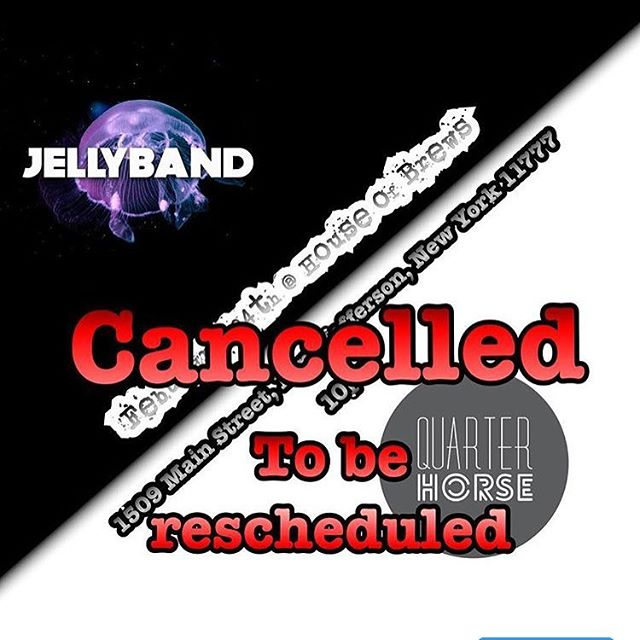 Just a reminder that our show at House Of Brews for tomorrow has been cancelled. We are working on a new date, and will inform you guys of the change ASAP. Thanks. #quarterhorseband #quarterhorsemusic #band #music #nymusic #originalmusic #supportlocalmusic #houseofbrews #jellyband
