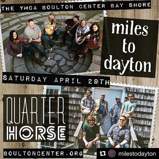 #Repost @milestodayton ・・・ Tickets are now available for Miles to Dayton and Quarter Horse April 29th at the YMCA Boulton Center in Bayshore!  Tickets visit: Boultoncenter.org @yboultoncenter @quarterhorseband  #milestodayton #quarterhorse #folkrock #americana #longislandoriginalmusic #localmusic #beards #folk #quarterhorseband #quarterhorsemusic #band #music #supportlocalmusic #longisland