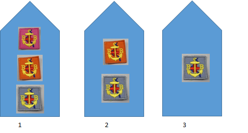 Badges are to be placed on the right hand sleeve and spaced accordingly as shown above.