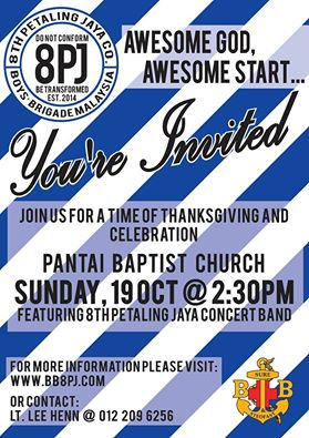 Come and join us for our very first Celebration Concert for a time of thanksgiving, gratefulness to a wonderful and awesome God!