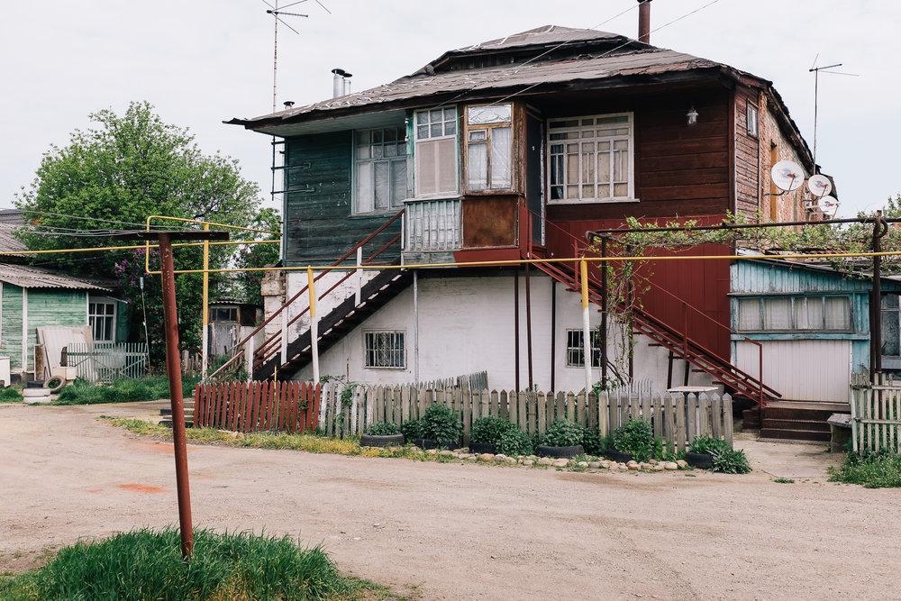 Quartier résidentiel de la ville d'Armavir au sud de la Russie.