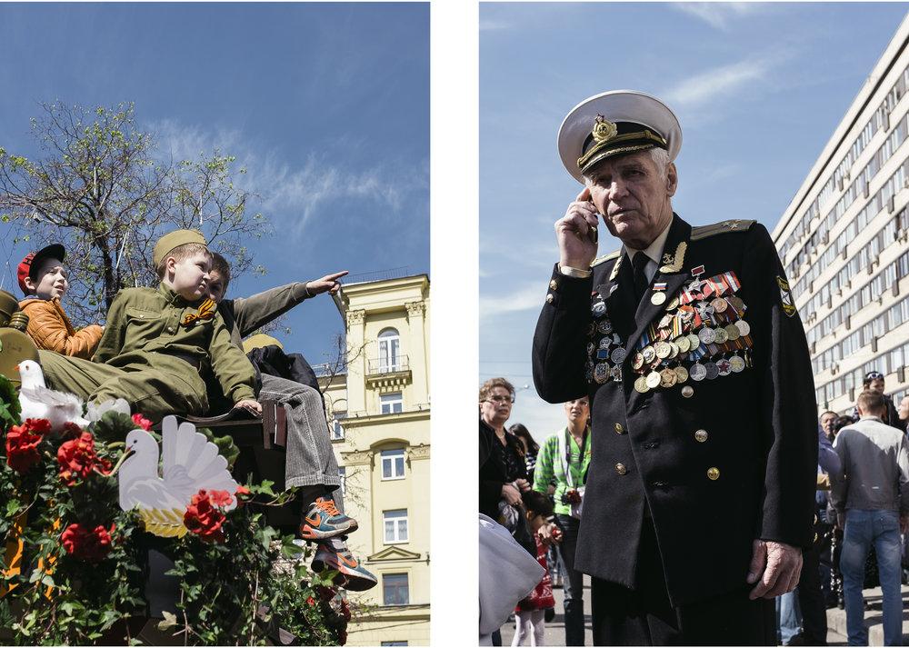 C'est une fierté pour les jeunes garçons de porter l'uniforme de l'armée et de pouvoir admirer avec respect les médailles que les vétérans ont gagné sur les champs de batailles.