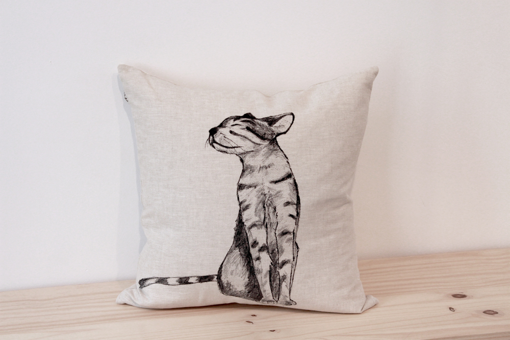 Coussin chat Prune