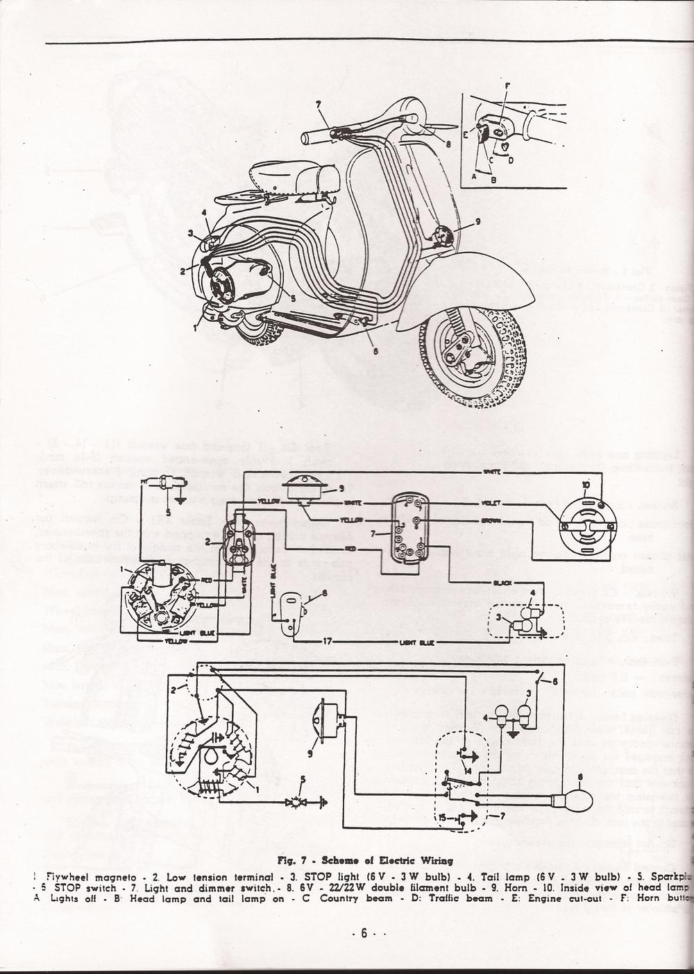 Vespa Allstate Wiring Diagram Great Engine Schematic Corsa 788 94493 Va9t 1958 Kyle S Scooter Shop Rh Kylesscootershop Com Chetak 1984