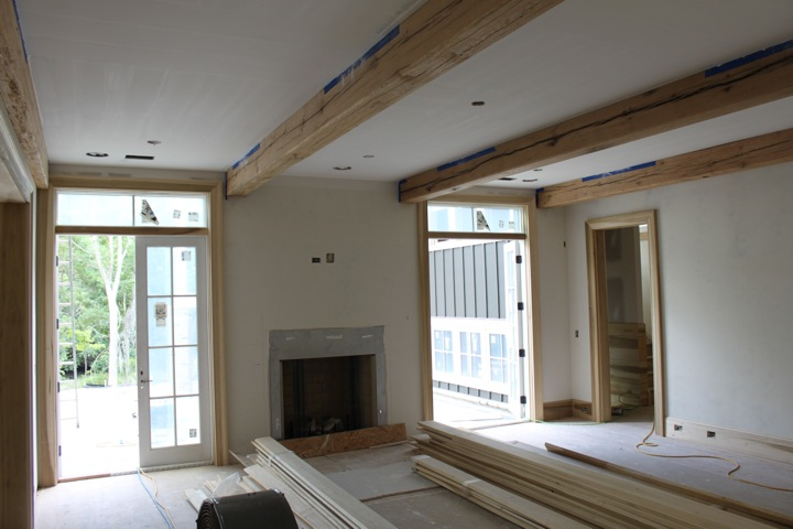 Living Room in Mt. Pleasant residence takes shape.