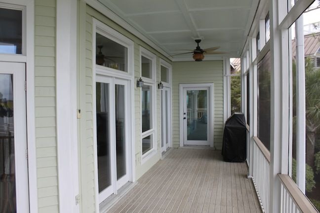 Screened porch, before expansion to allow for new outdoor dining space