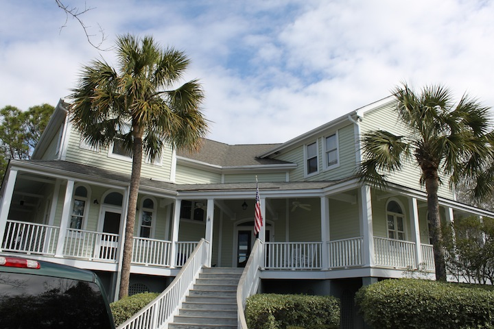 Entry Elevation of Sullivan's Island residence, before renovation