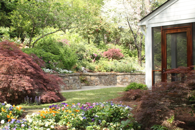 Lake Katherine renovation in Columbia, Sc with landscape architecture by Sheila Wertimer Landscape Architect
