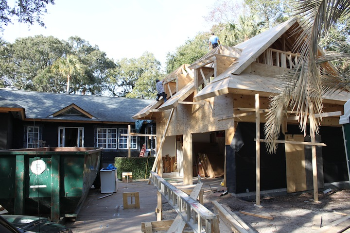 Surfsong Road addition underway on Kiawah Island.