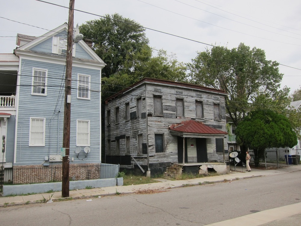 26 Blake St, soon to be restored. This is the last remaining example of its type in the Eastside of Charleston.