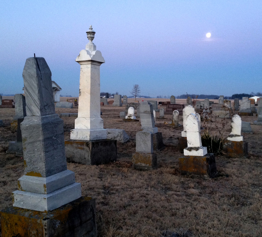 Steve captured this image of a full moon as it set on an old cemetery in Shelby County. He was on his way to a location shoot in New Bremen when he spotted the opportunity.