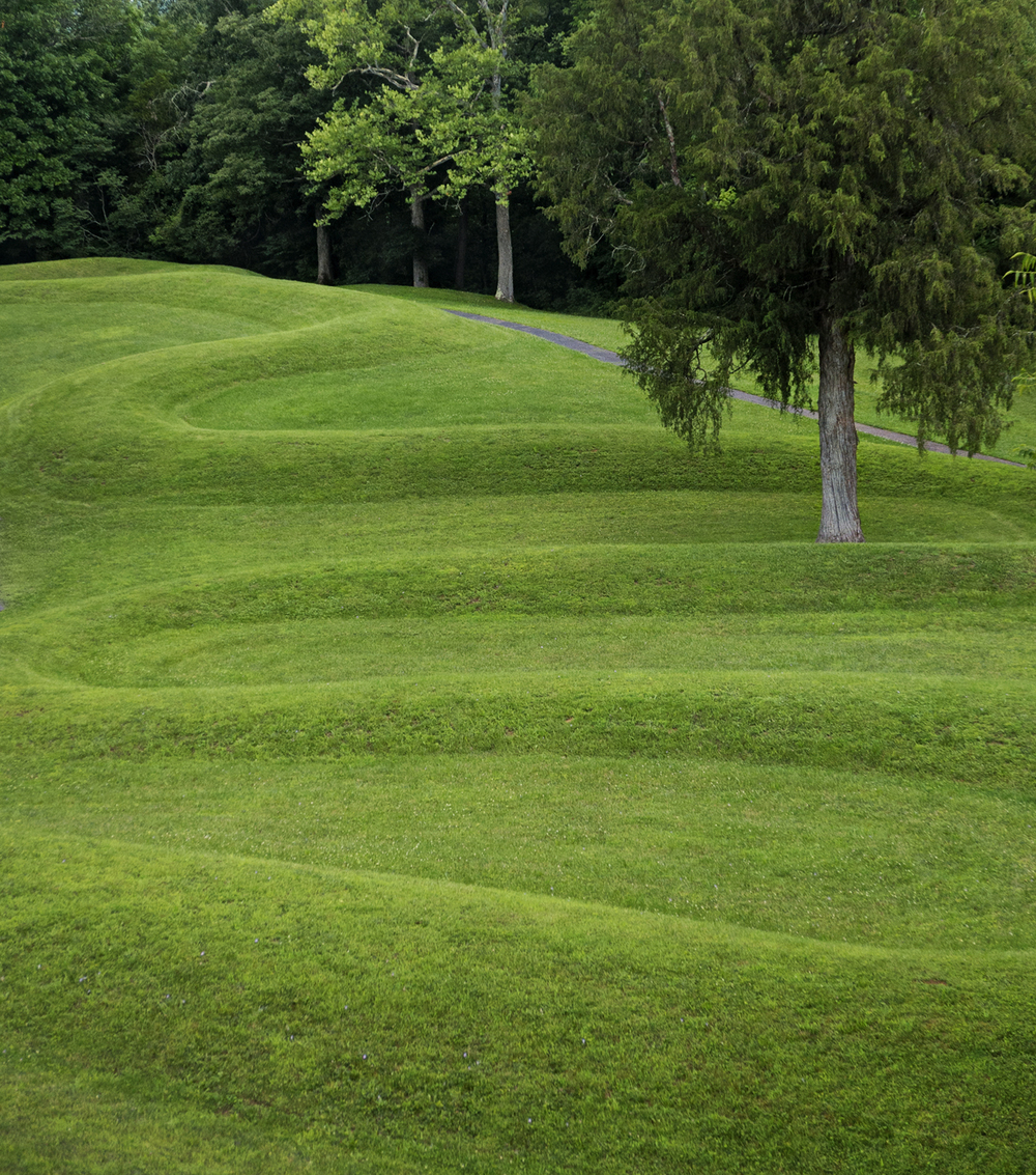 This photo by John is of the Great Serpent Mound in Adams County, Ohio. This is the largest serpent effigy known, and is believed to have been built by the Adena culture, which dates back to around 300 BC.