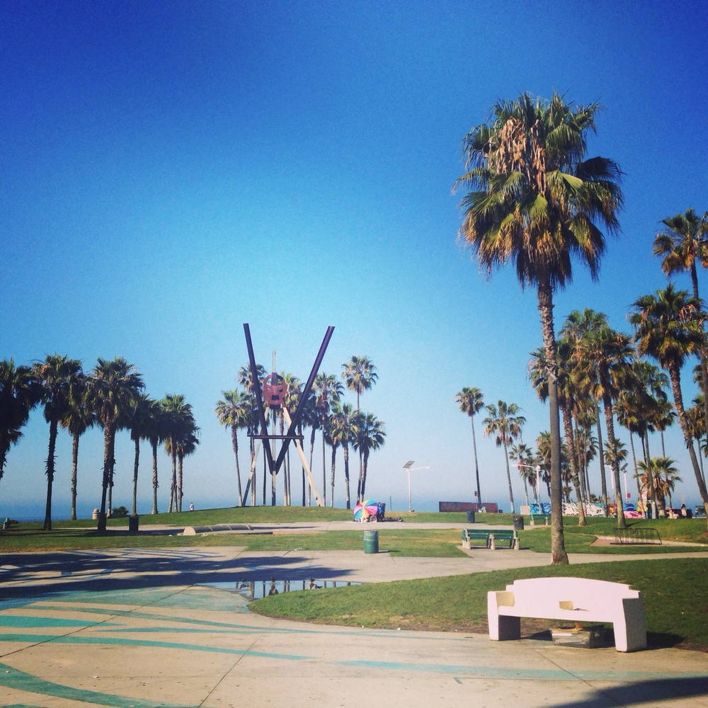 Venice Beach, CA first thing in the morning before all of the hustle and bustle.