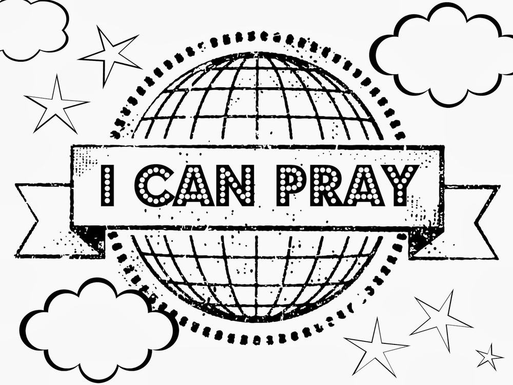 This one would be easy to paste some of the smaller pictures below on. Or print out as name tags and every time they say the prayer or talk about when they said the prayer, put a smilie sticker on their name tag.