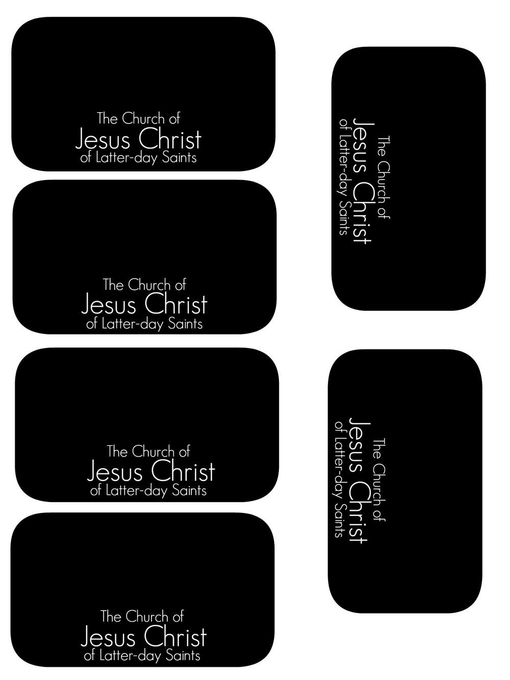Primary 2 lesson 11 chicken scratch n sniff for Mormon missionary name tag template