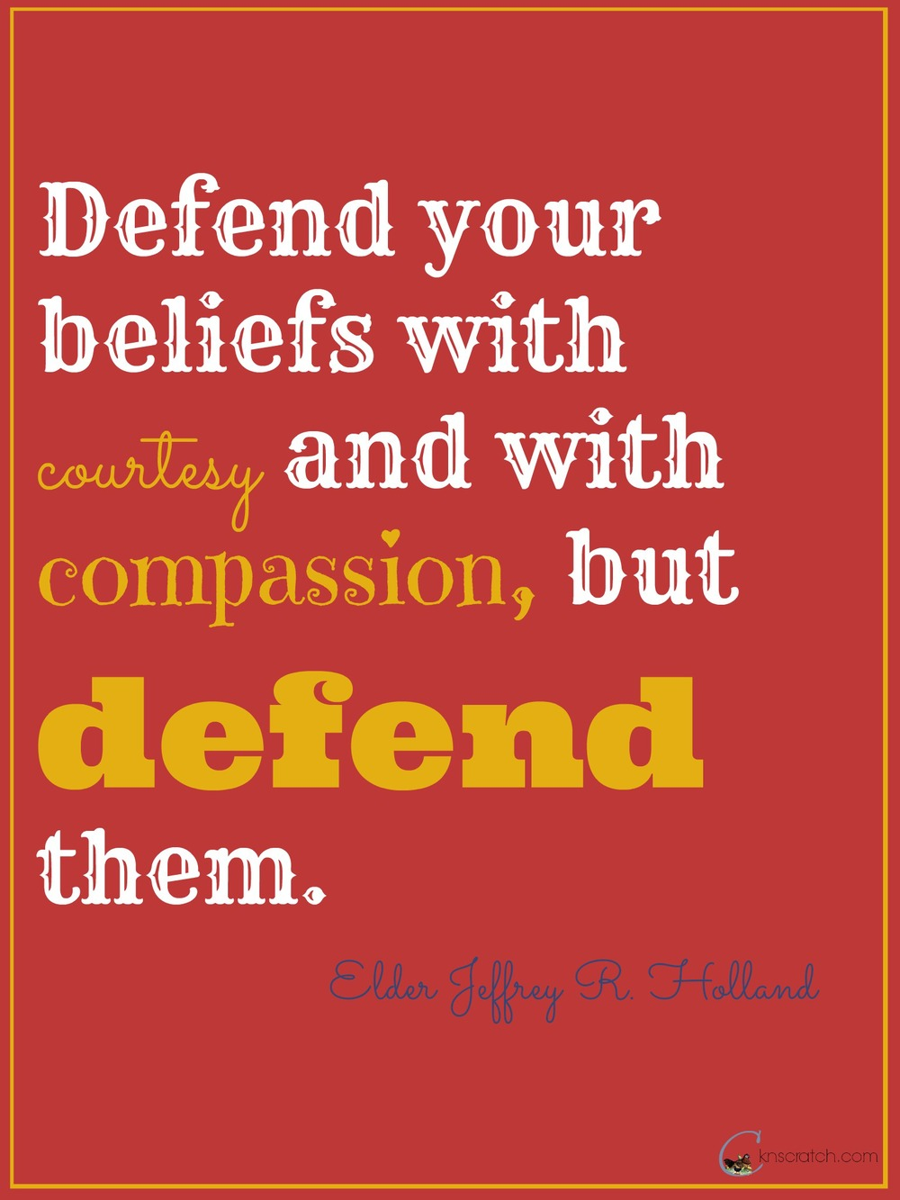 Defend your beliefs