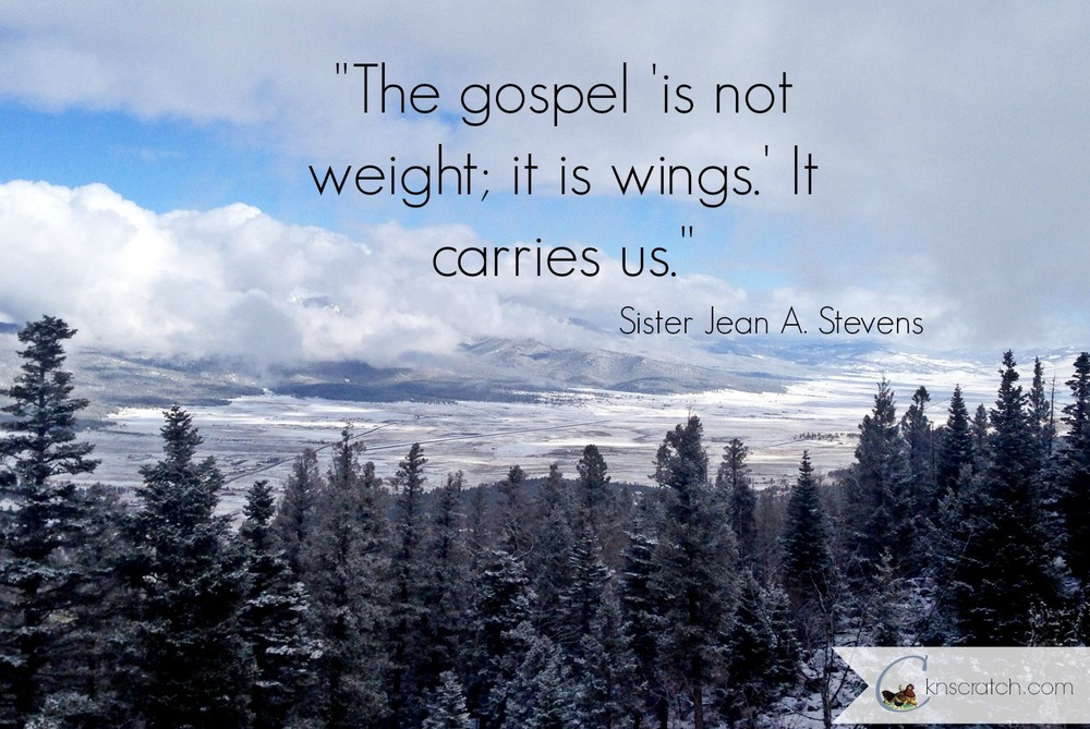 The Gospel gives us wings