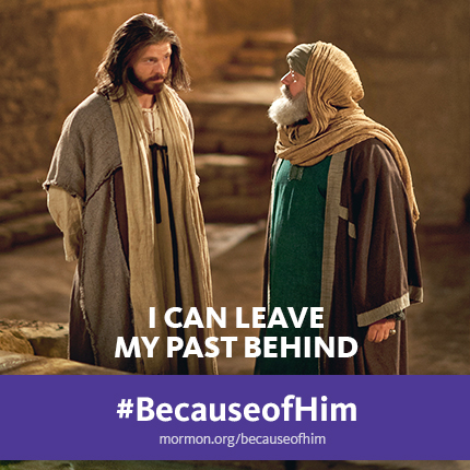#BecauseofHim I can leave my past behind.