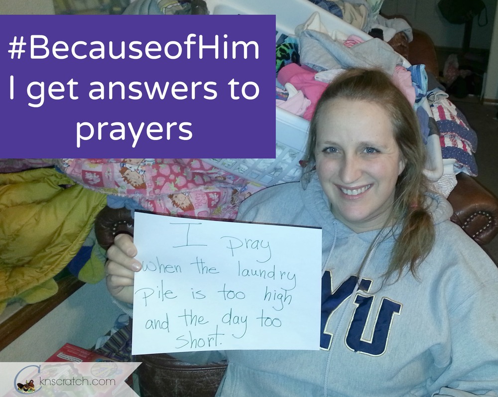#BecauseofHim I get answers to my prayers