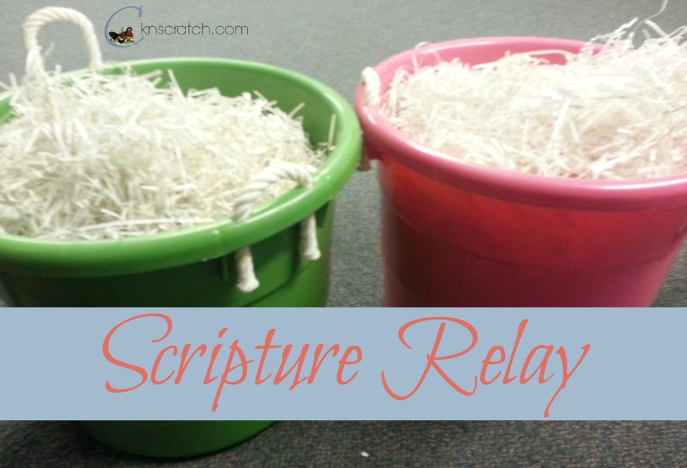 Shredded Paper plus Scriptures= Fun Scripture Relay Race