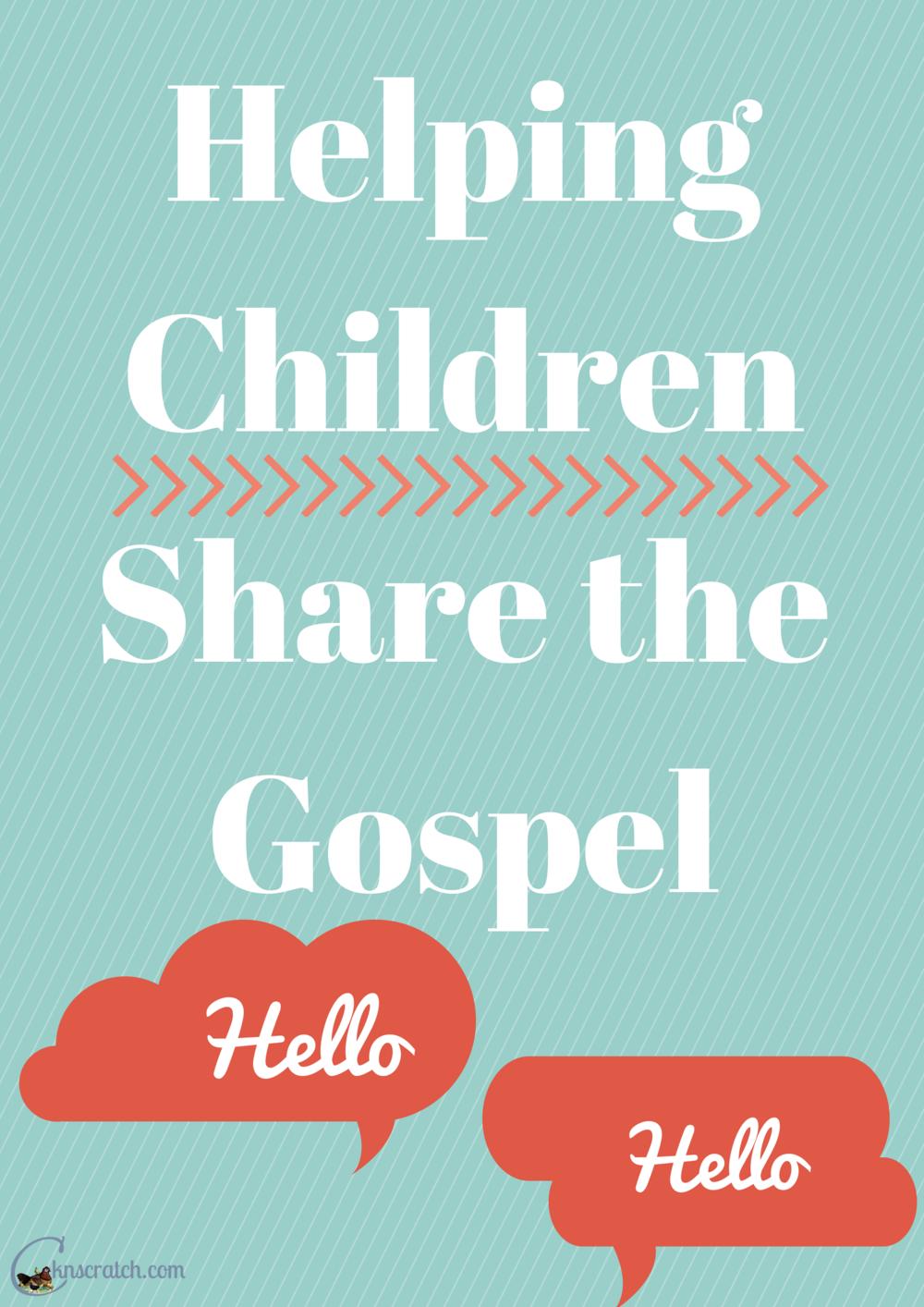 Helping Children Share the Gospel