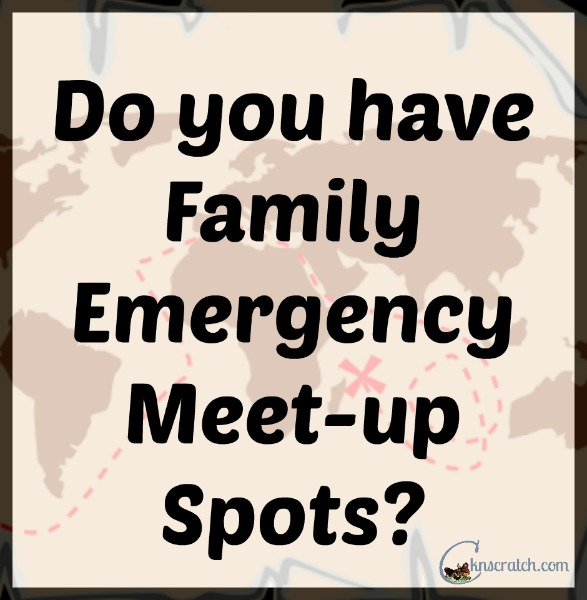 Do you have Family Emergency Meet-up Spots? +Giveaway