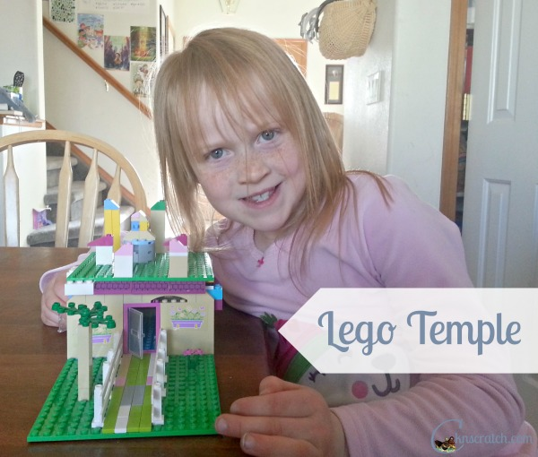 Great way to keep everyone quiet but still listening to General Conference- Building Lego Temples during General Conference