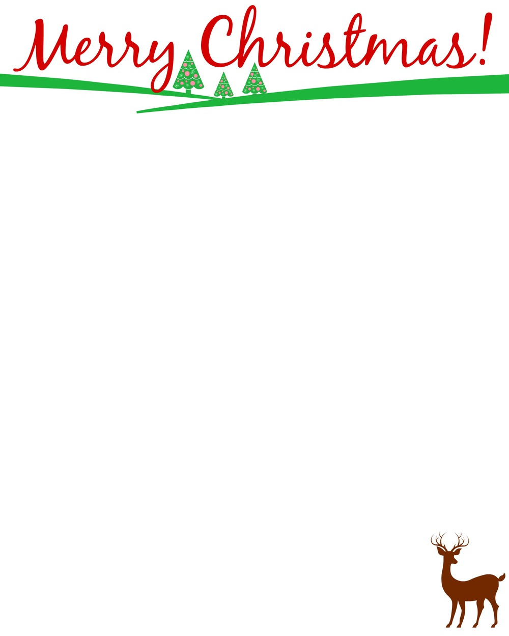 Cute stationary for Christmas letters! (Free)