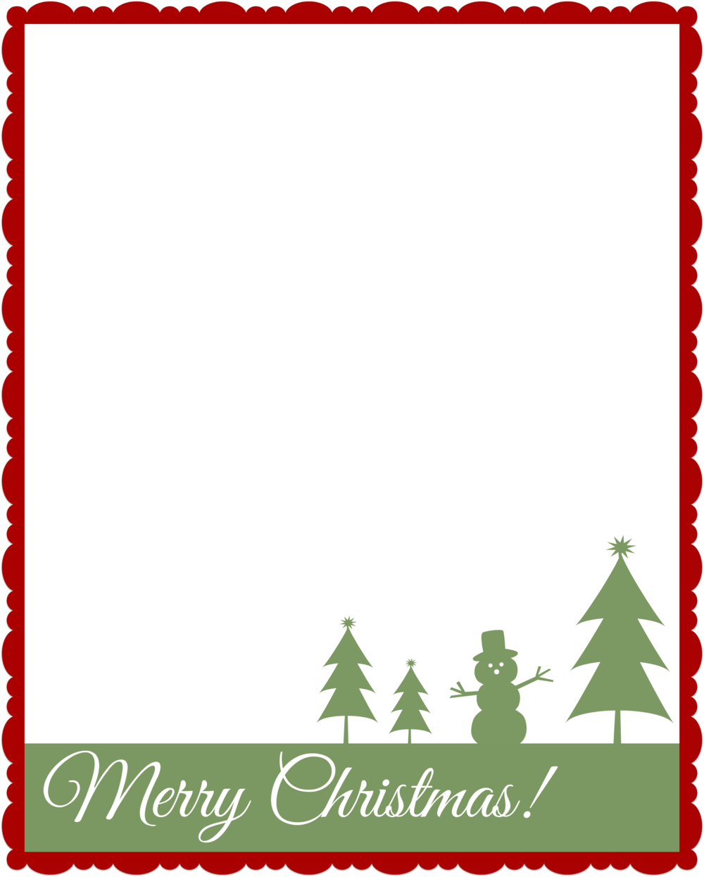 Fun Christmas letter template!
