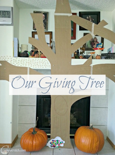 Love this Giving Tree- its not just counting your blessings, its showing your gratitude and recognizing the good in others!