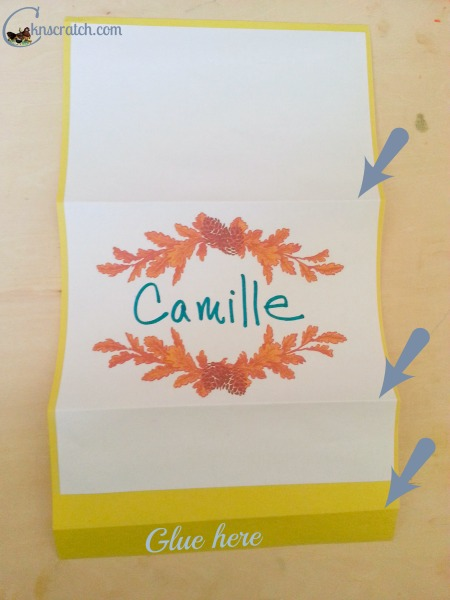Great way to fold name cards so don't fall over.