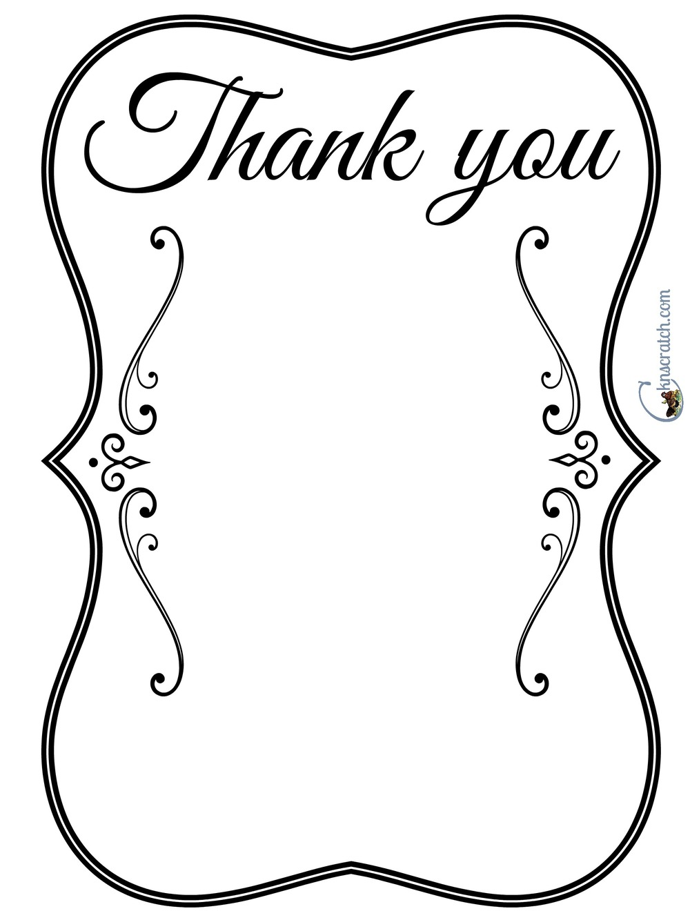 Thank you sheet- list your blessings or write a note