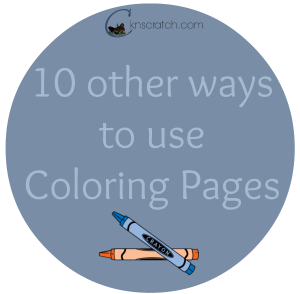 Love these ideas for uses of coloring pages!