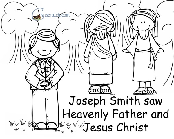Behold your little ones lesson 21 joseph smith saw for First vision coloring page