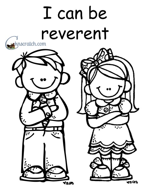 I can be reverent- love these coloring pages for LDS nursery!