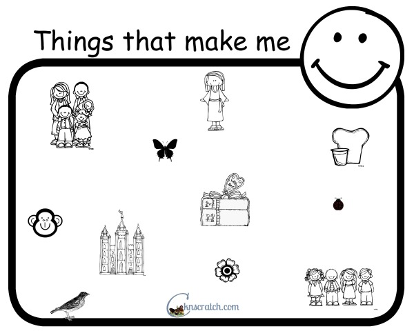 Great handout for Behold Your Little Ones- I can Me Happy