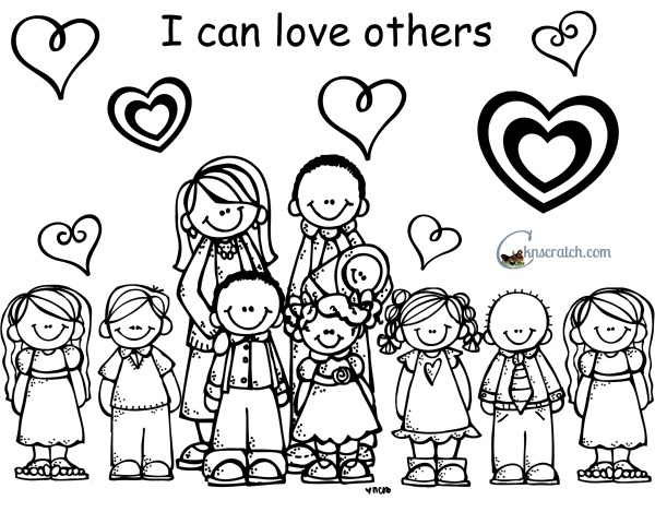 Love One Another Coloring Page Jesus Said